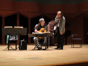 現代音楽を演奏するときの醍醐味、作曲者(野平一郎さん)とのディスカッション。ベートーヴェンとは相談できないでしょ。